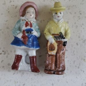 """Made in Japan Cowboy and Cowgirl Small 3"""""""